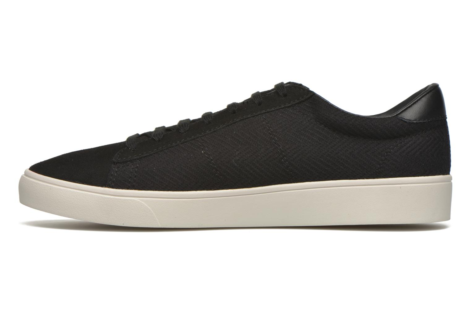 Sneakers Fred Perry Spencer Herringbone Zwart voorkant