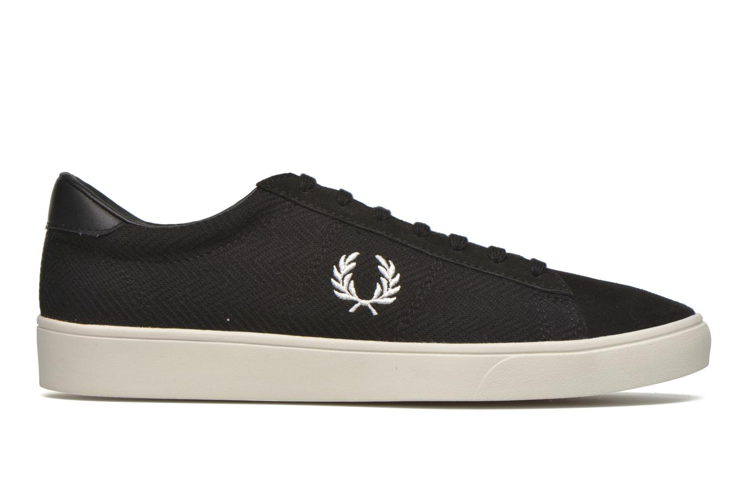 Sneakers Fred Perry Spencer Herringbone Zwart achterkant
