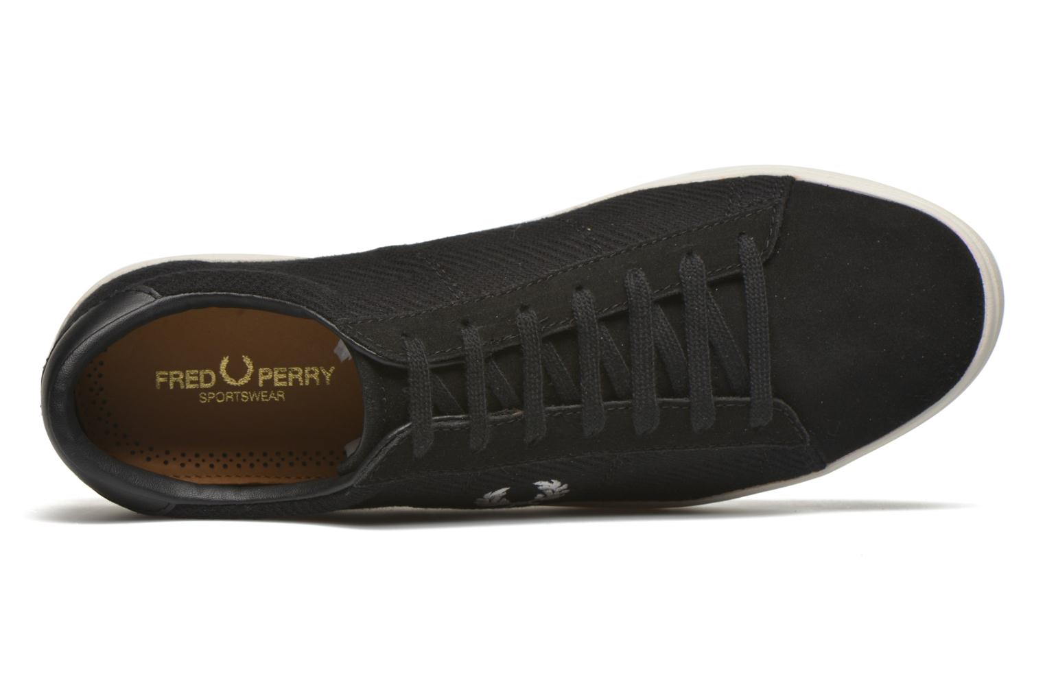 Baskets Fred Perry Spencer Herringbone Noir vue gauche