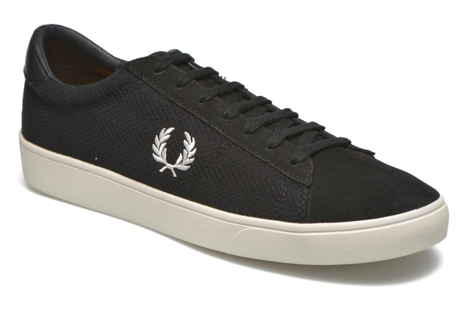 Baskets Fred Perry Spencer Herringbone Noir vue détail/paire