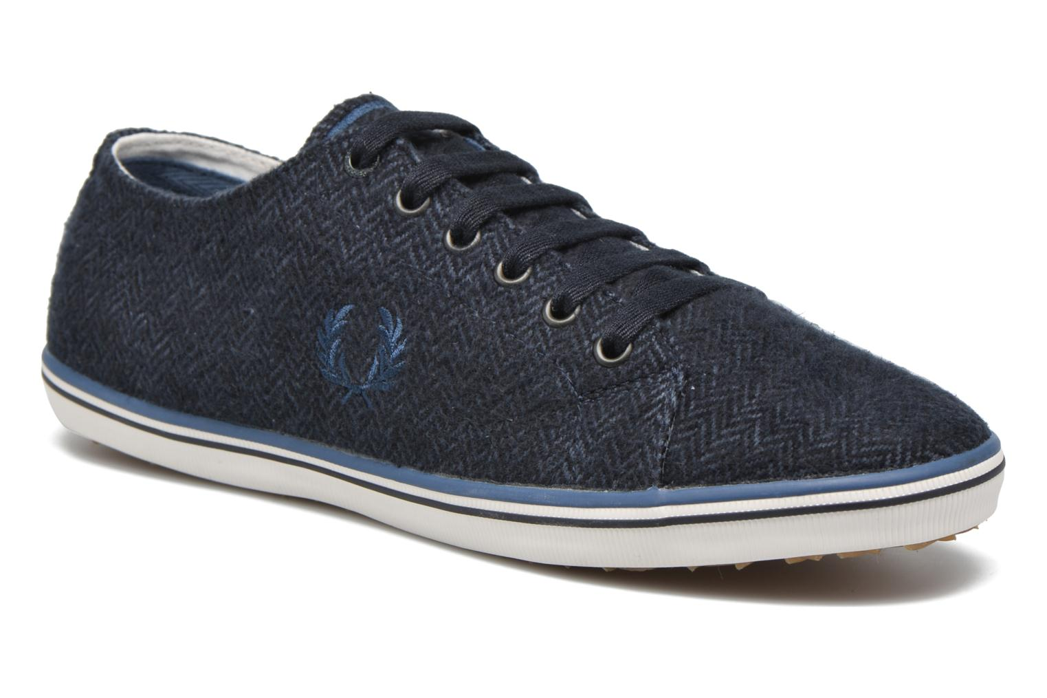 Baskets Fred Perry Kingston Tweed Bleu vue détail/paire