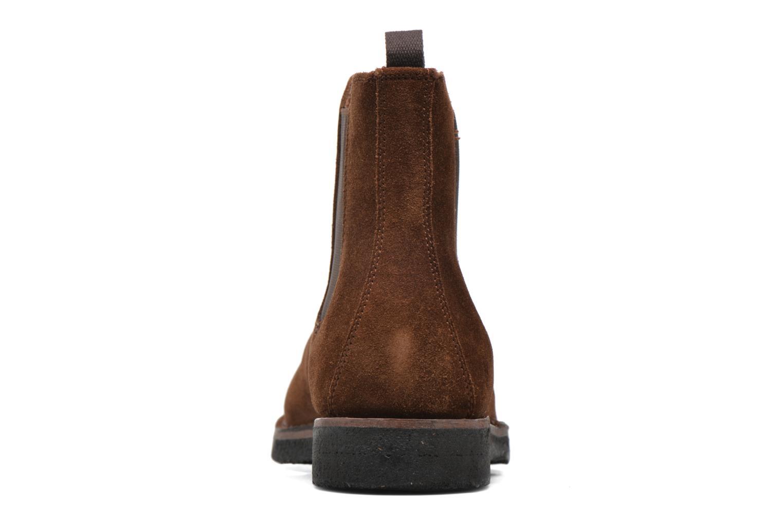 Bottines et boots Frye Arden Chealsea Marron vue droite