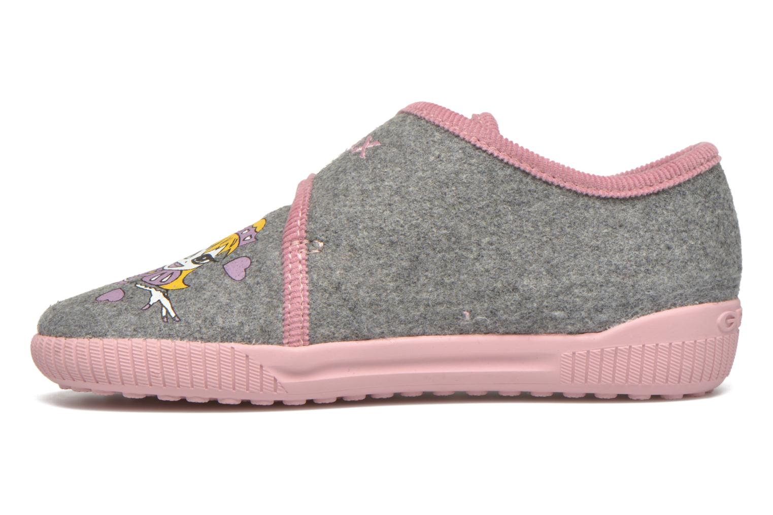 Slippers Geox J Home G. A J4414A Grey front view