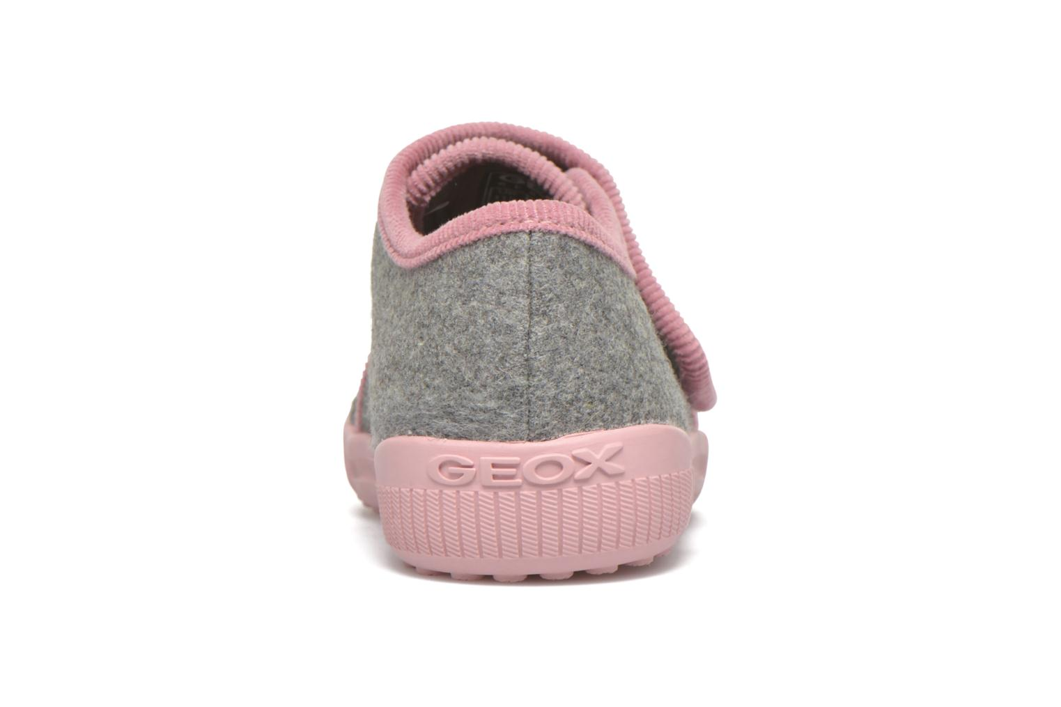 Slippers Geox J Home G. A J4414A Grey view from the right