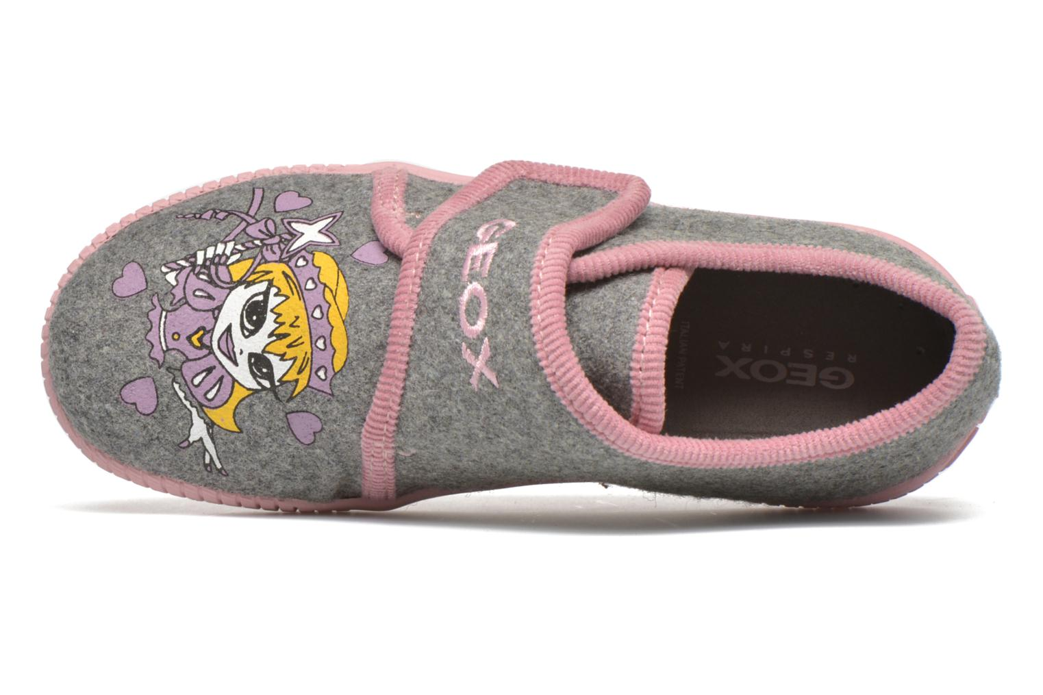 Slippers Geox J Home G. A J4414A Grey view from the left