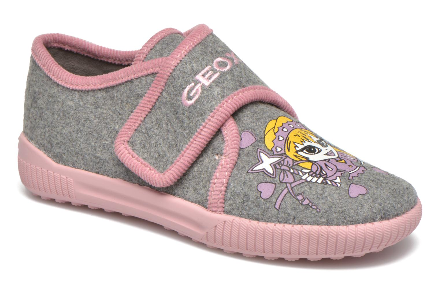 Slippers Geox J Home G. A J4414A Grey detailed view/ Pair view
