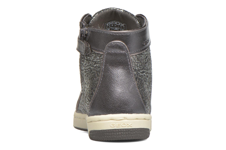 Sneaker Geox J Creamy E J62L5E silber ansicht von rechts