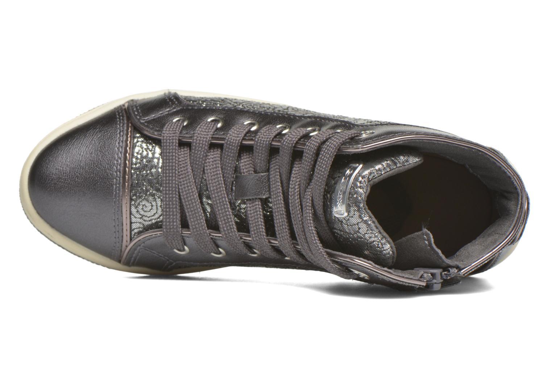 Sneaker Geox J Creamy E J62L5E silber ansicht von links