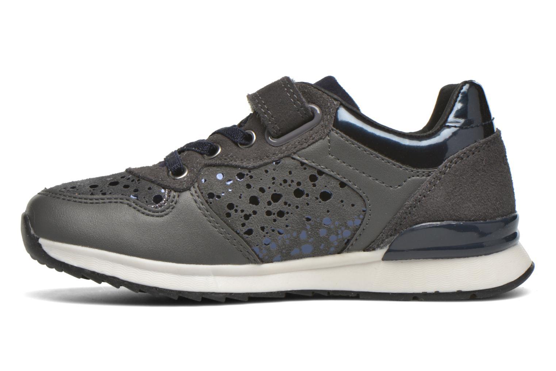 Sneaker Geox J Maisie G. E J6403E grau ansicht von vorne