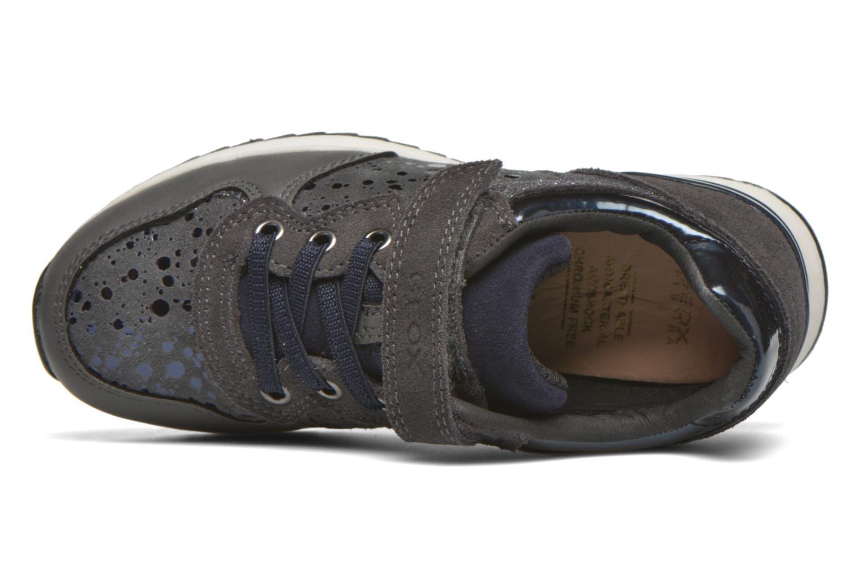 Sneaker Geox J Maisie G. E J6403E grau ansicht von links
