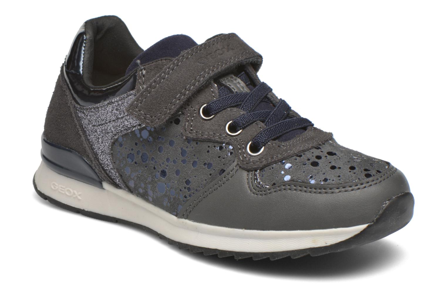 Trainers Geox J Maisie G. E J6403E Grey detailed view/ Pair view