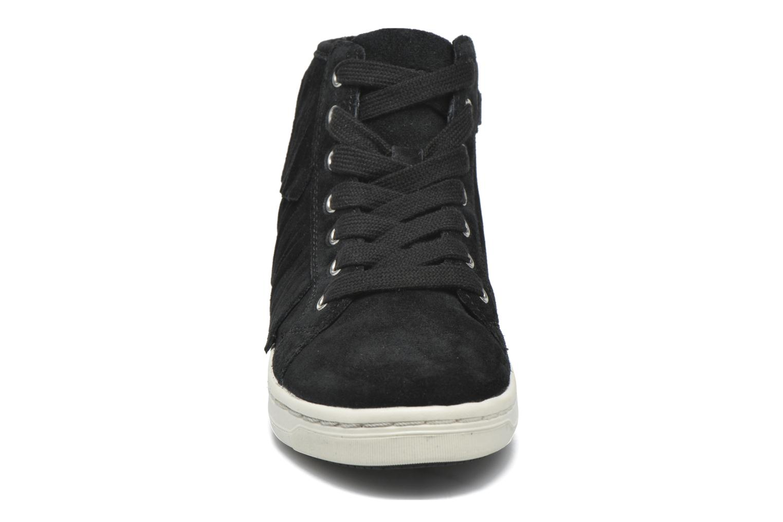 Baskets Geox J Aveup G. F J641ZF Noir vue portées chaussures