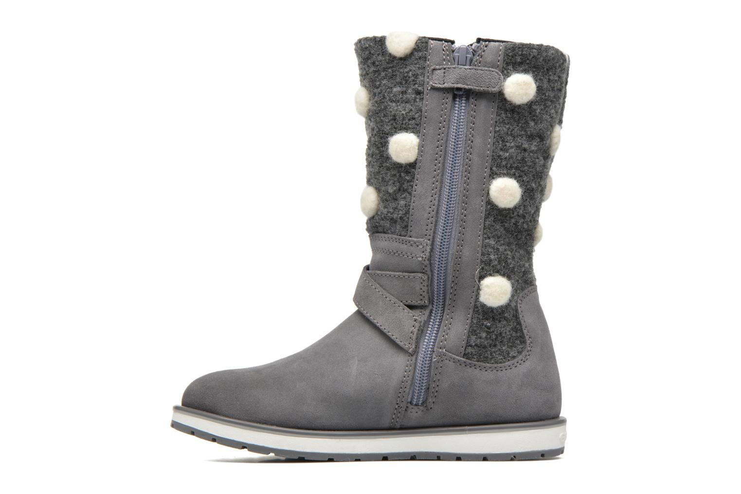Boots & wellies Geox J Noha A J6460A Grey front view