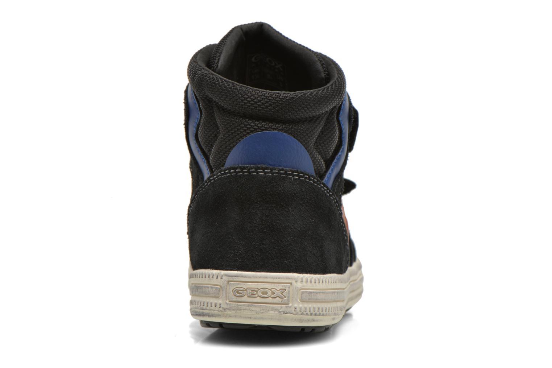 Sneaker Geox J Elvis H J64A4H schwarz ansicht von rechts