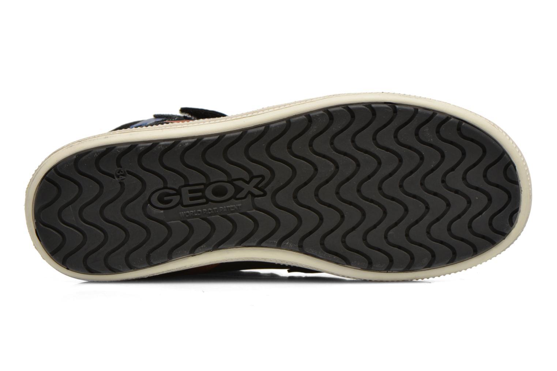 Sneaker Geox J Elvis H J64A4H schwarz ansicht von oben