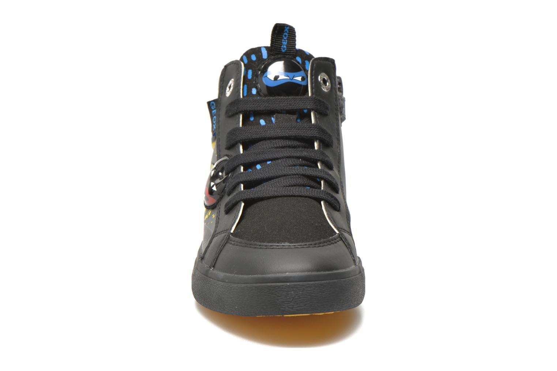 Baskets Geox J Kiwi B. I J64A7I Noir vue portées chaussures