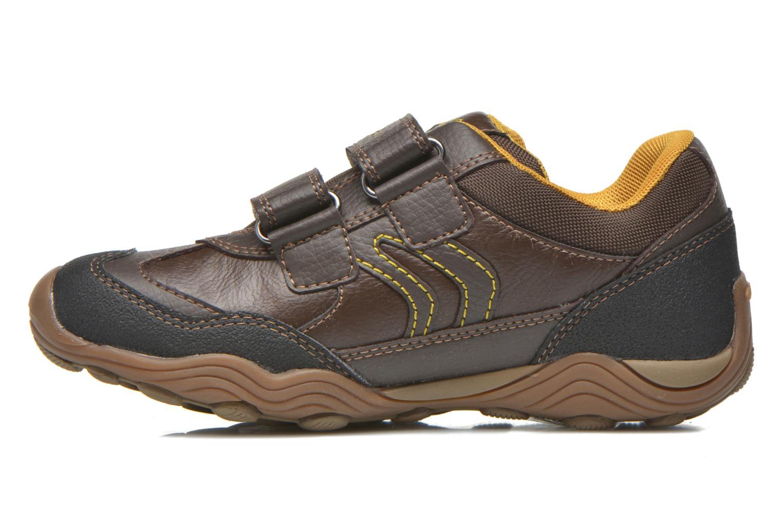 Chaussures à scratch Geox J Arno A J64F0A Marron vue face