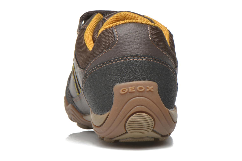 Chaussures à scratch Geox J Arno A J64F0A Marron vue droite