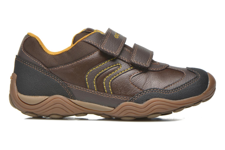 Chaussures à scratch Geox J Arno A J64F0A Marron vue derrière