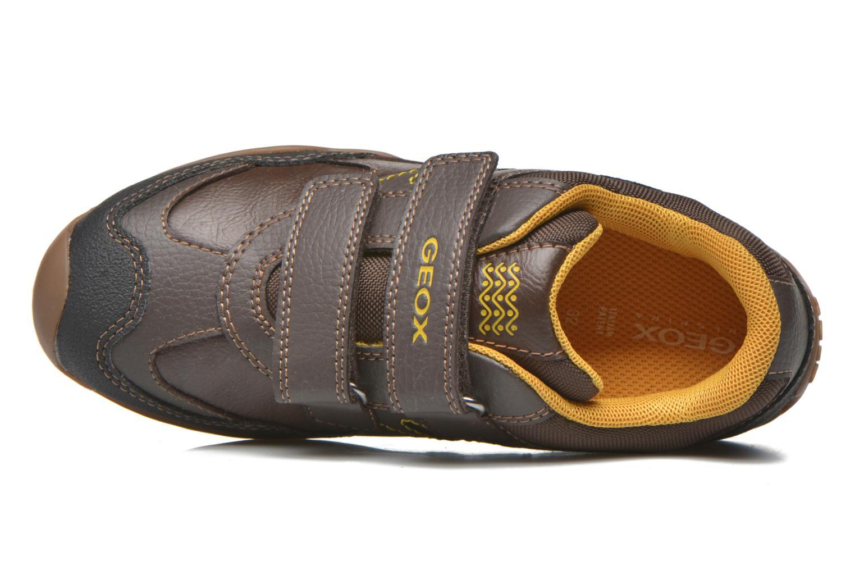 Chaussures à scratch Geox J Arno A J64F0A Marron vue gauche