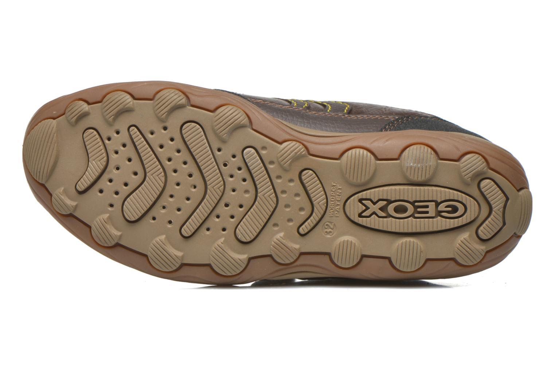 Chaussures à scratch Geox J Arno A J64F0A Marron vue haut