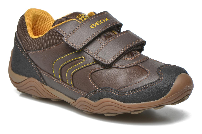 Chaussures à scratch Geox J Arno A J64F0A Marron vue détail/paire
