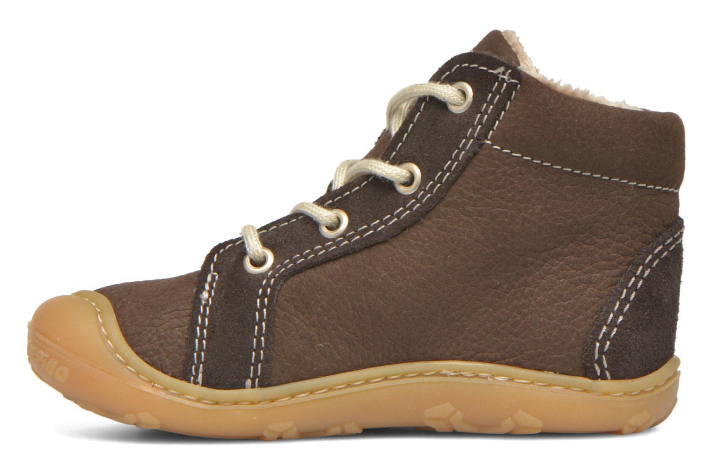 Chaussures à lacets PEPINO George Marron vue face