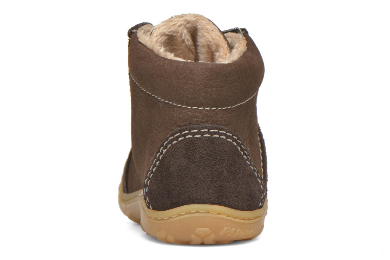 Chaussures à lacets PEPINO George Marron vue droite