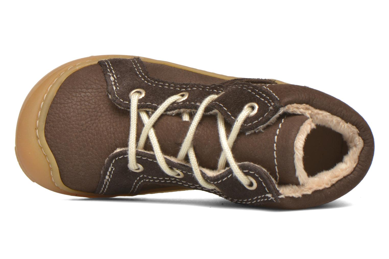 Chaussures à lacets PEPINO George Marron vue gauche