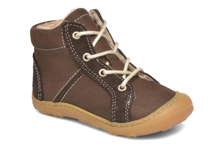 Chaussures à lacets PEPINO George Marron vue détail/paire