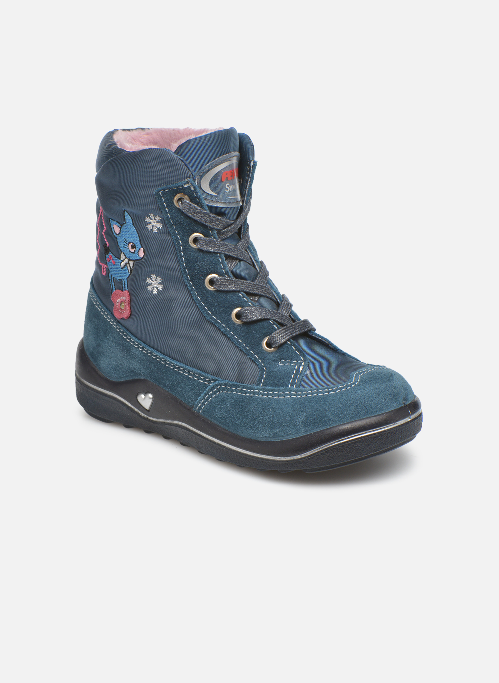 Ankle boots PEPINO Ruby Blue detailed view/ Pair view
