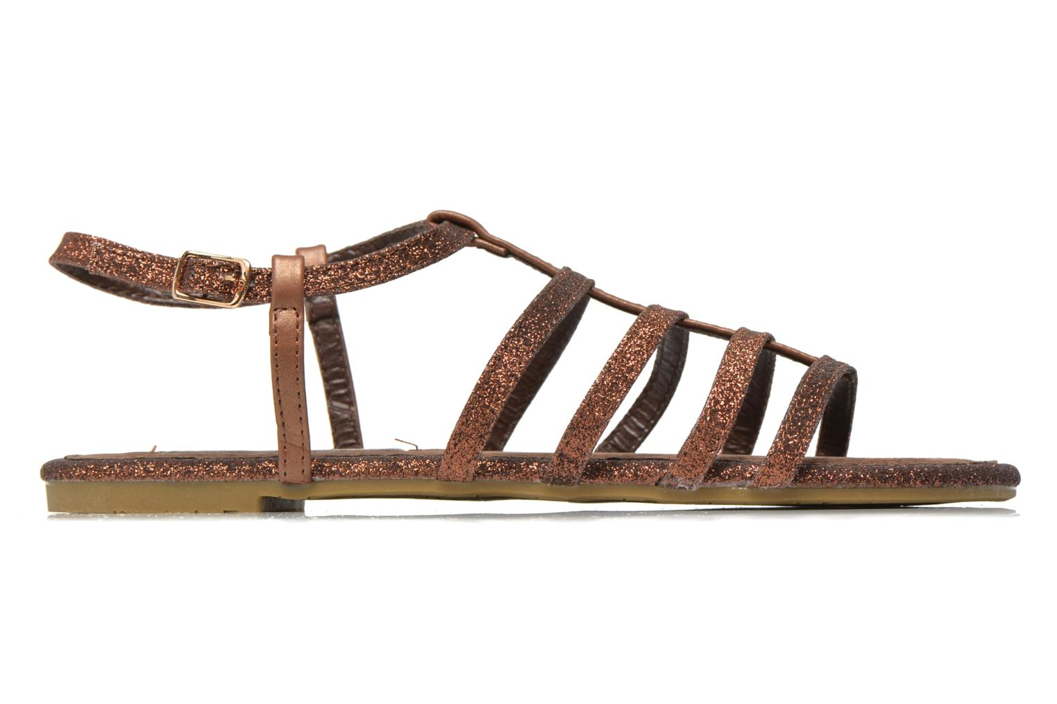 Sandals Xti Dominicana 30160 Bronze and Gold back view