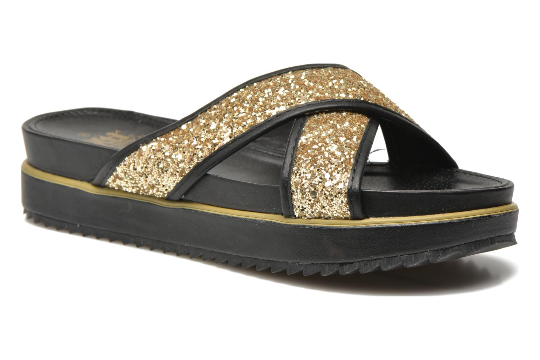 Clogs og træsko Xti Levana 45234 Guld og bronze detaljeret billede af skoene