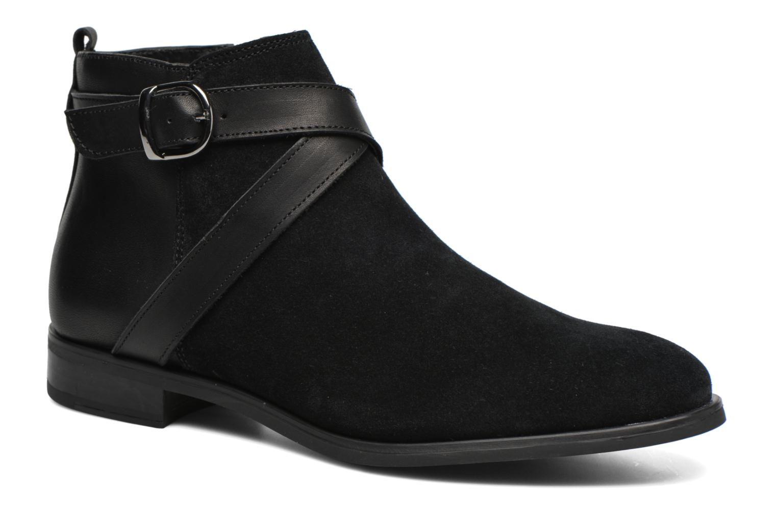 Ankle boots Georgia Rose Anoucle Black detailed view/ Pair view