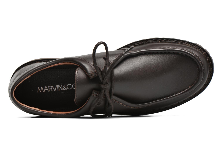 Chaussures à lacets Marvin&Co Kingston Marron vue gauche