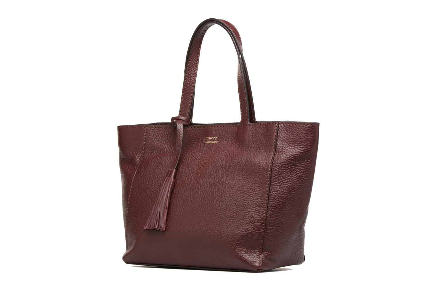 Handbags Loxwood CABAS PARISIEN S Cuir grainé Burgundy model view