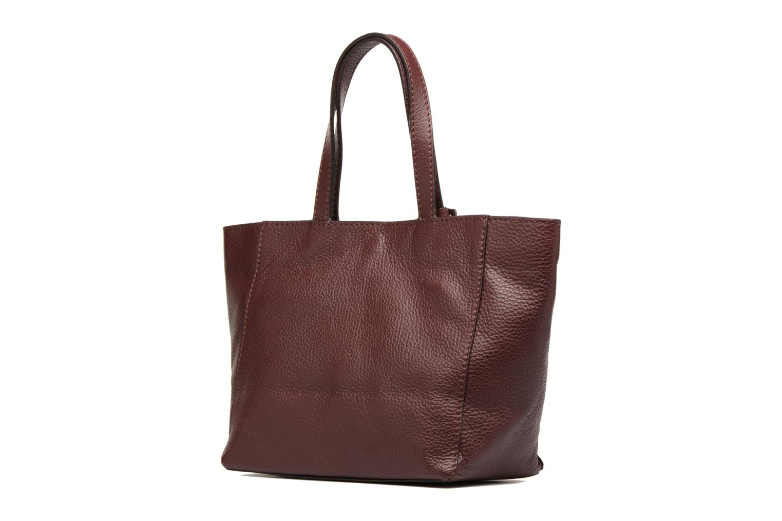 Handbags Loxwood CABAS PARISIEN S Cuir grainé Burgundy view from the right