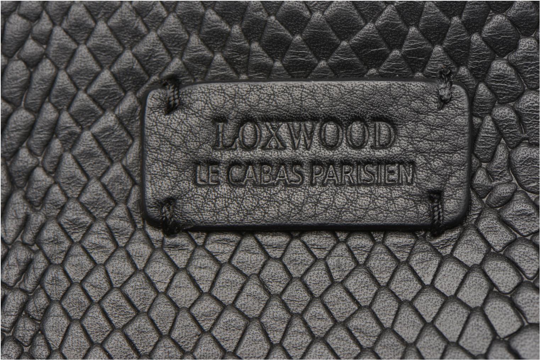 Sacs à main Loxwood CABAS PARISIEN M Cuir imprimé Noir vue gauche