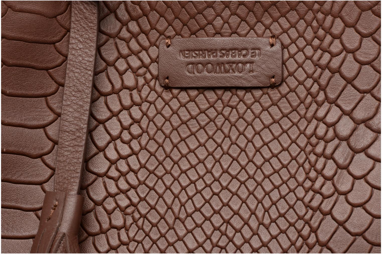 Bolsos de mano Loxwood CABAS PARISIEN M Cuir imprimé Marrón vista lateral izquierda