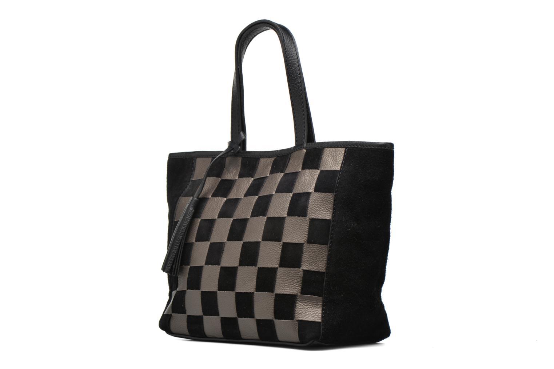Handtaschen Loxwood CABAS PARISIEN Cuir damier schwarz schuhe getragen