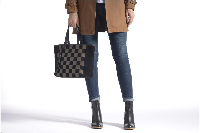 Handtaschen Loxwood CABAS PARISIEN Cuir damier schwarz ansicht von oben