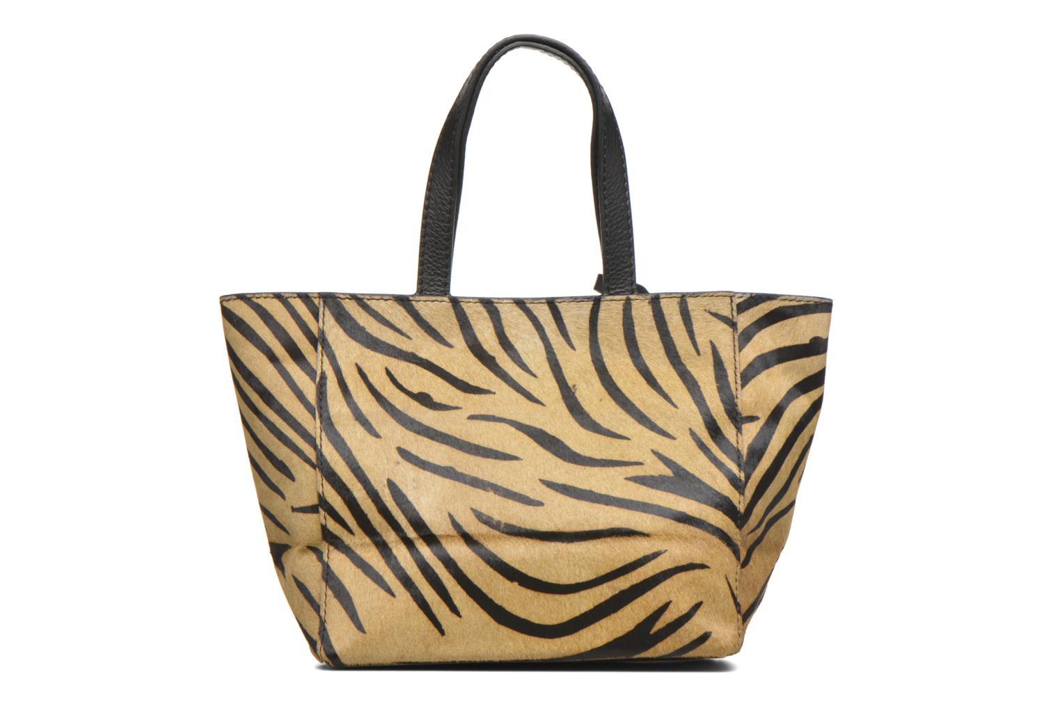 CABAS PARISIEN S Zebra Dark Brown