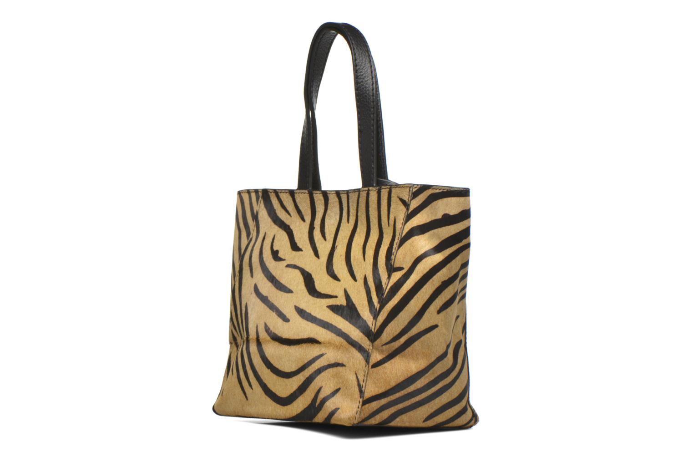 CABAS PARISIEN S Zebra Dark Brown