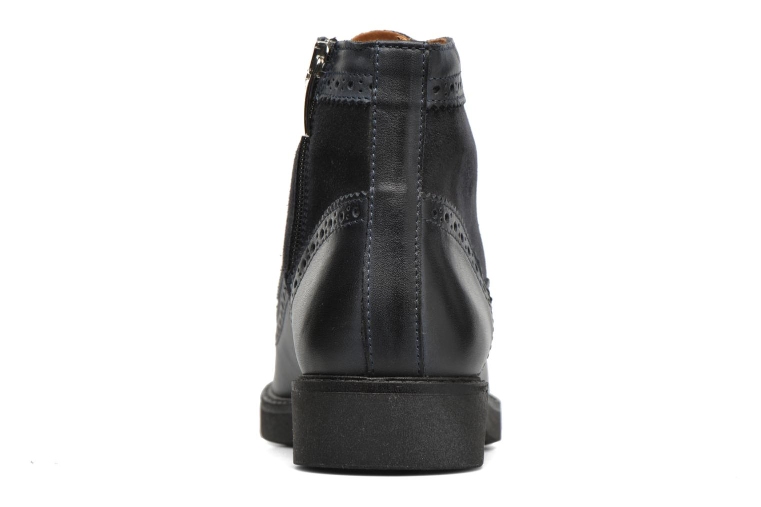 Ankle boots Georgia Rose Ninog Blue view from the right