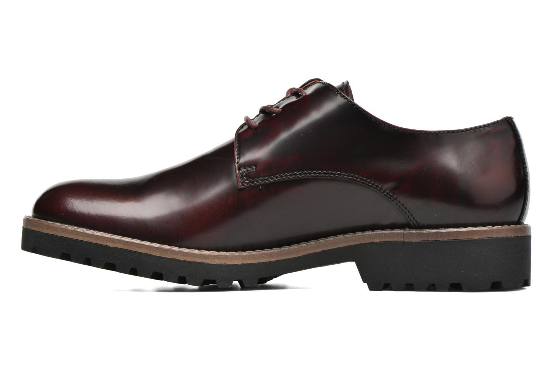 Chaussures à lacets Georgia Rose Nicran Bordeaux vue face