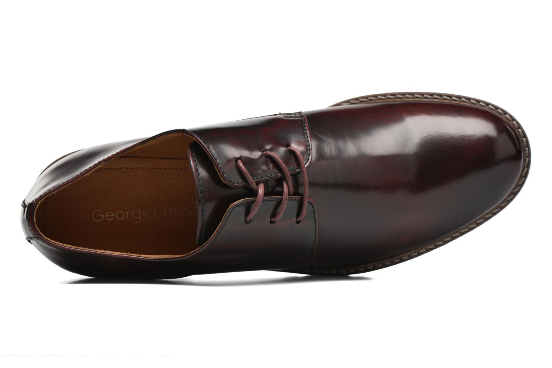 Chaussures à lacets Georgia Rose Nicran Bordeaux vue gauche