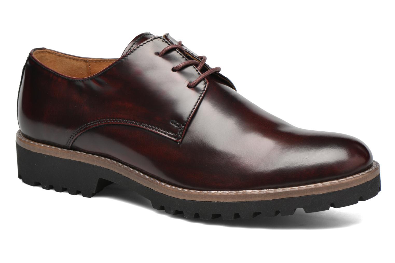 Chaussures à lacets Georgia Rose Nicran Bordeaux vue détail/paire