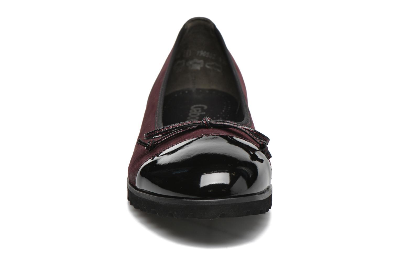 Ballerines Gabor Lidia Rouge vue portées chaussures