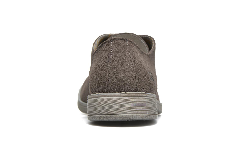 Zapatos con cordones DUDE Volterra Gris vista lateral derecha