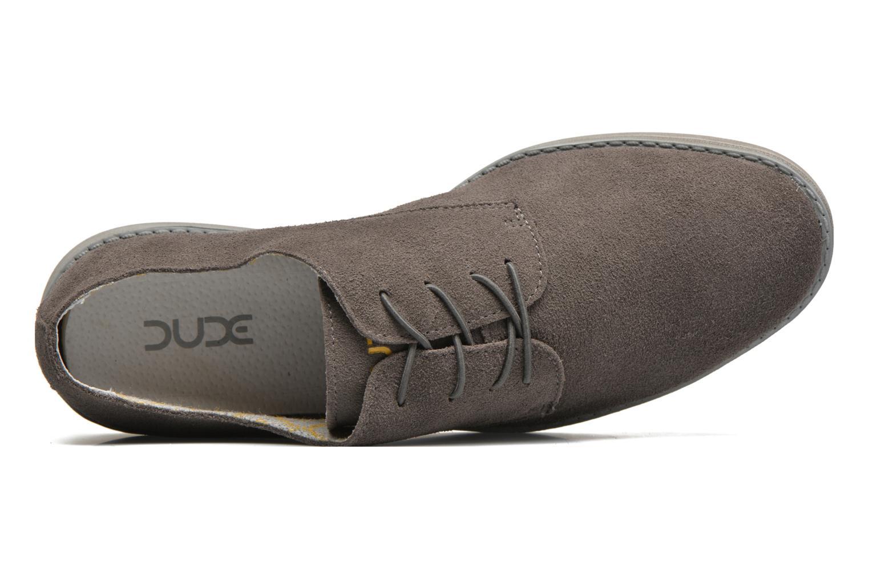 Zapatos con cordones DUDE Volterra Gris vista lateral izquierda